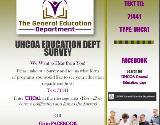 General Education Department Survey